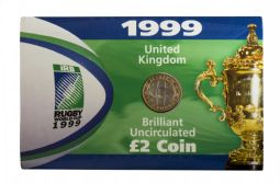 1999 £2 Rugby World Cup Brilliant Uncirculated Pack for sale